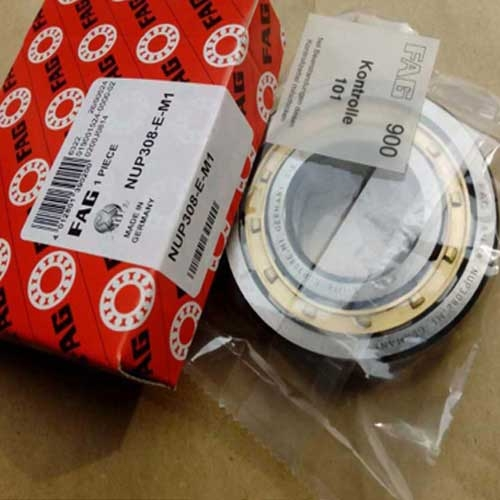Cylindrical roller bearing NUP308.E-M1 with bass cage
